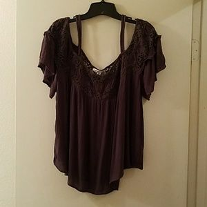 AEO Cold shoulder boho top